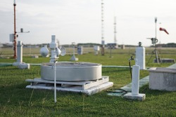 meteorological equipment and sensors placed in a wide and spacious meteorological instrument park. This equipment is used to obtain meteorological and climatological data