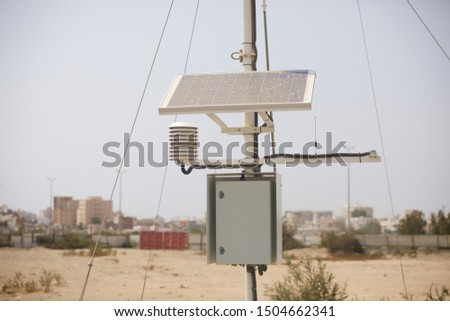 Meteorological equipment's , used for monitoring weather and climatic conditions #1504662341