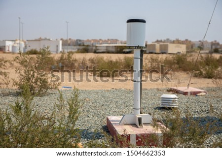 Meteorological equipment's , used for monitoring weather and climatic conditions #1504662353