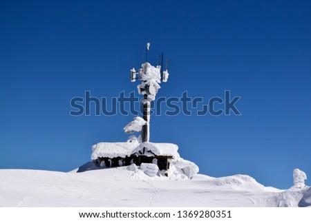 Meteorological Station in the mountain peak #1369280351