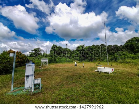 Meteorological station (Met farm) consists of equipments to record all weather phenomenon  #1427991962