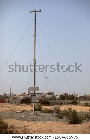 Meteorological tower for measuring and monitoring climate #1504665995