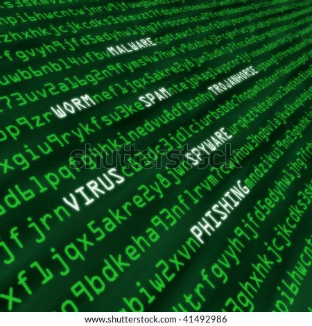 Methods of cyber attack in code including virus, worm, Trojan horse, malware and spyware