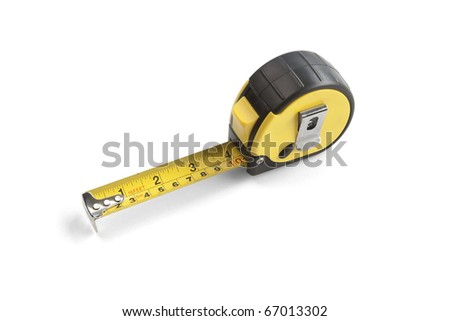 Metric tape, isolated white