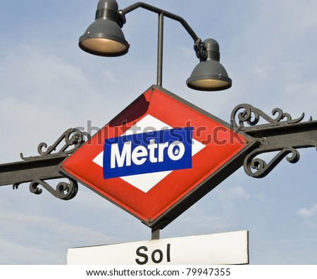 Metro in Madrid, Spain