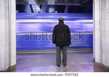 metro`s passenger on station