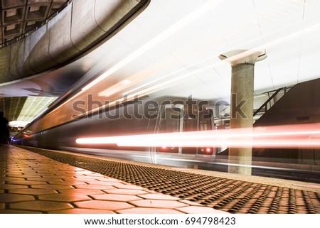 metro station in washington dc  ...