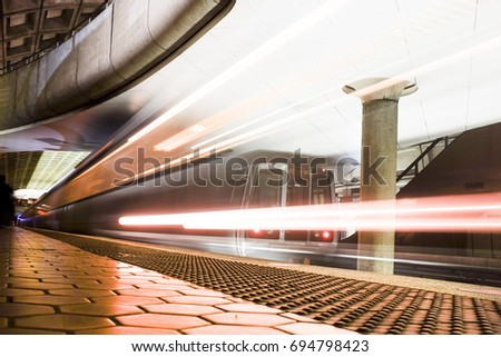 Metro station in Washington DC, United States