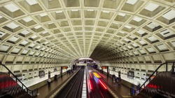 Metro Station in Washington DC, USA