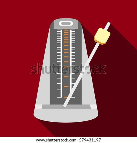 Metronome icon. Flat illustration of metronome  icon for web design