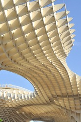 Metropol Parasol detail in Seville, Spain