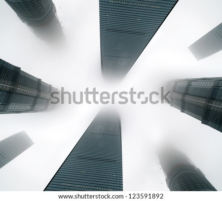 Metropolis of Shanghai's modern office building