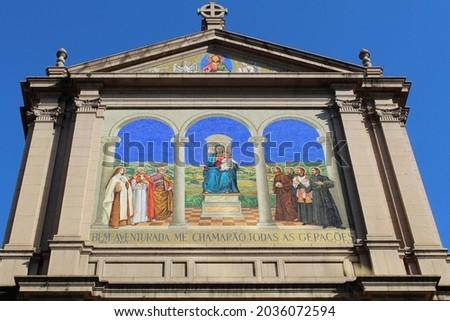 Metropolitan Cathedral of Porto Alegre in downtown - Rio Grande do Sul, Brazil Foto stock ©