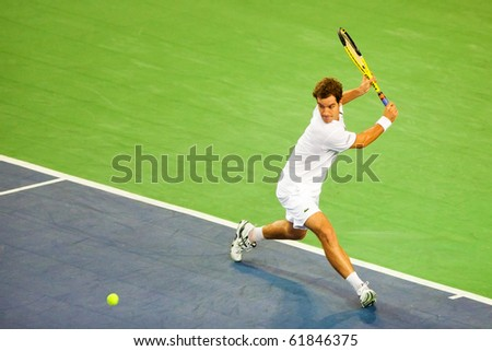 METZ, FRANCE - SEPTEMBER 23: Richard Gasquet (FRA, ATP No. 30) and Edouard Roger-Vasselin (France, not pictured) reach the doubles semifinals of the ATP Open de Moselle on September 23, 2010 in Metz.