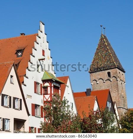 Metzgerturm in the Fischerviertel (historic district) of Ulm, Germany.