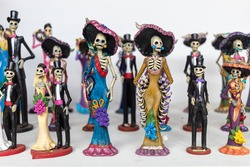 Mexican art figures found in a market