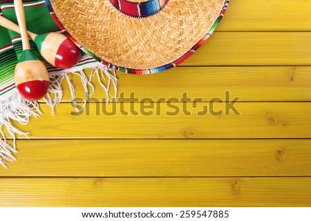 mexican background  sombrero ...