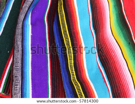 Mexican color poncho