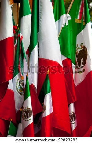 Mexican Flags, 5 de Mayo, celebration of Mexican heritage.