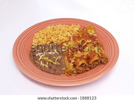Mexican food - Enchilada dinner