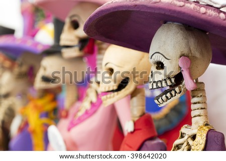 Shutterstock Mexican handicraft, day of the dead (skeleton)