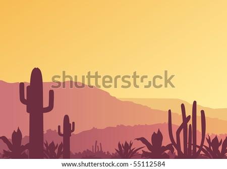 Mexican landscape. Raster image