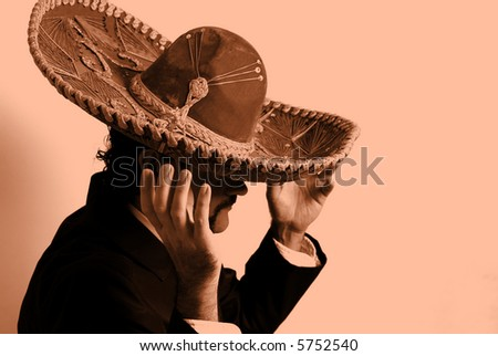 Mexican leaned in the wall - Background.