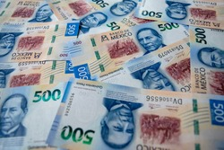 Mexican Money, Photography of Newest Mexican 500 Pesos Bills. 2021