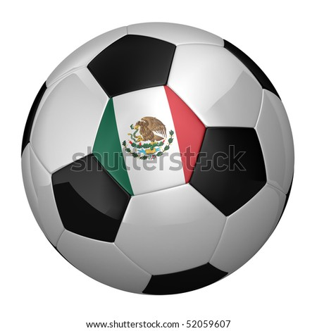 Mexican Soccer Ball isolated over white background