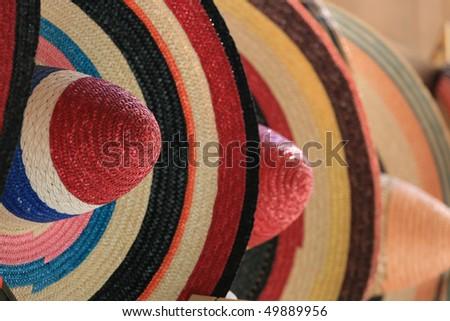 mexican sombrero - stock photo