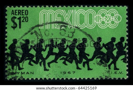 MEXICO - CIRCA 1968: A stamp printed in MEXICO shows image of the dedicated to the 1968 Summer Olympics, officially known as the Games of the XIX Olympiad, circa 1968.
