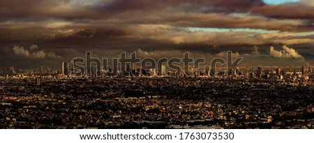 Mexico City, CDMX, Mexico, 10/02/2017, Aerial view in the morning of the mexico city