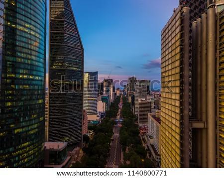 Mexico City - Ciudad de Mexico Sunset