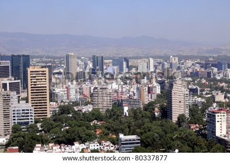 Mexico City downtown skyline - stock photo