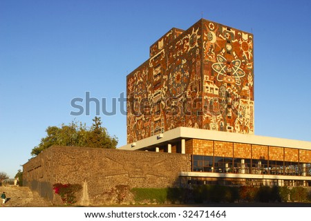 Shutterstock MEXICO CITY â?? JUNE 15: Shown is Universidad Nacional Autonoma de Mexico, UNAM, on June 15, 2009 in Mexico City. UNAM has been awarded the 2009 Principe de Asturias award.