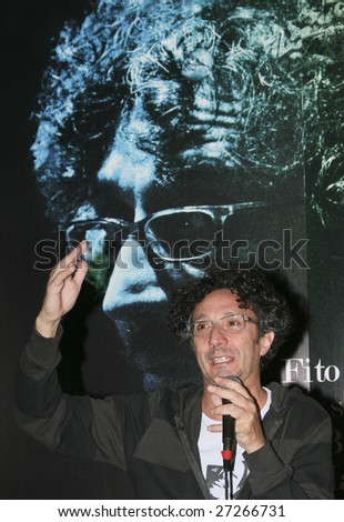 "MEXICO CITY - MARCH 17: Argentinian Singer Fito Paez attends ""No s? si es Baires o Madrid"" new cd launch press conference at Hotel Presidente Intercontinenta in Mexico City."