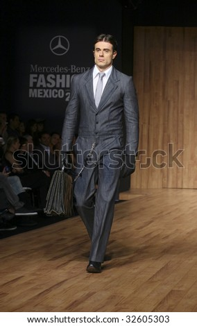 MEXICO CITY - MAY 20: A model walks the runway wearing Morgana by Mauro Babun Autumn/Winter 2009 during Mercedes-Benz Fashion Mexico Autum/Winter 2009 May 20, 2009 in Mexico City.