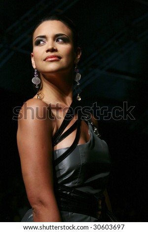 MEXICO CITY-May 18 2009: Miss Univers Mexico 2008 Elisa Najera walks the runway during the Stars Night (Celebrities) runaway at Mercedes-Benz Fashion Mexico Autumn/Winter 2009