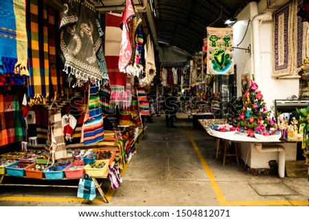Mexico City, Mexico - December 2, 2018: Traditional Artisan Market (Ciudadela- Mercado de Artesanias) in Mexico City