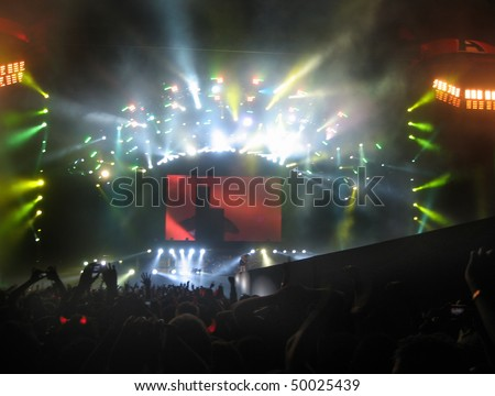 MEXICO CITY - NOVEMBER 12 : Australian rock band AC/DC on Black Ice World Tour on November 12, 2009 in Mexico City
