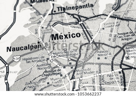 mexico city on the map 1053662237