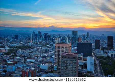 Mexico City panoramic view from observation deck Foto stock ©