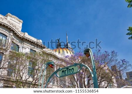 Mexico City Subway – Metro Entrance Sign