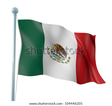 Mexico Flag Detail Render