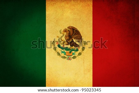 mexico grunge flag background