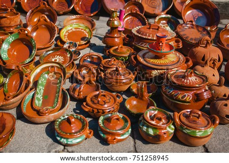 Shutterstock Mexico handicrafts made of clay of different shapes, cazuela, casserole, vase