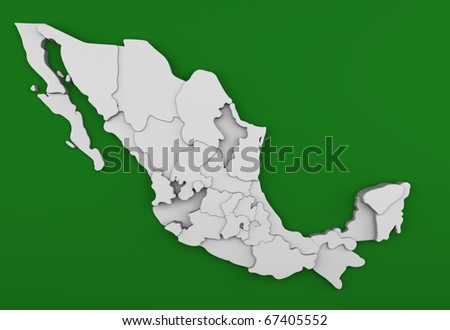 Mexico Map/Digitally rendered scene