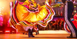Mexico national costume. Dancers show