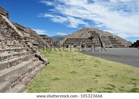 Mexico pyramids. The pyramid of the moon in Teotihuacan, Mexico.