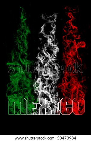 Mexico text with smoke